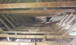 structural. diagonal crossbracing in roof.