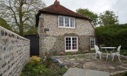 External renovation, flint walls in Eastbourne East Sussex area.
